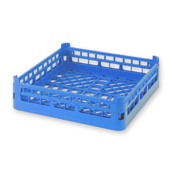 "Vollrath 52680 7 Open Dishwasher Rack - Medium, Full-Size, 19-3/4x19-3/4"" Royal Blue"