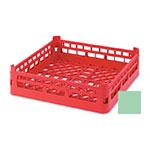 "Vollrath 52681 1 Open Dishwasher Rack - Tall, Full-Size, 19-3/4x19-3/4"" Green"