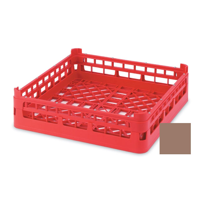 """Vollrath 52681 2 Open Dishwasher Rack - Tall, Full-Size, 19-3/4x19-3/4"""" Cocoa"""