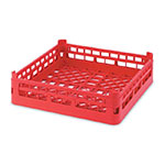 "Vollrath 52681 3 Open Dishwasher Rack - Tall, Full-Size, 19-3/4x19-3/4"" Red"