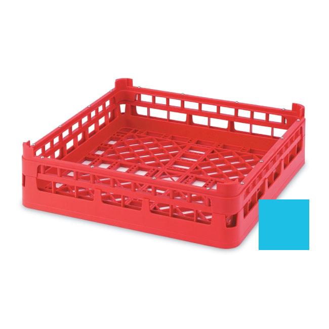 "Vollrath 52681 4 Open Dishwasher Rack - Tall, Full-Size, 19-3/4x19-3/4"" Blue"