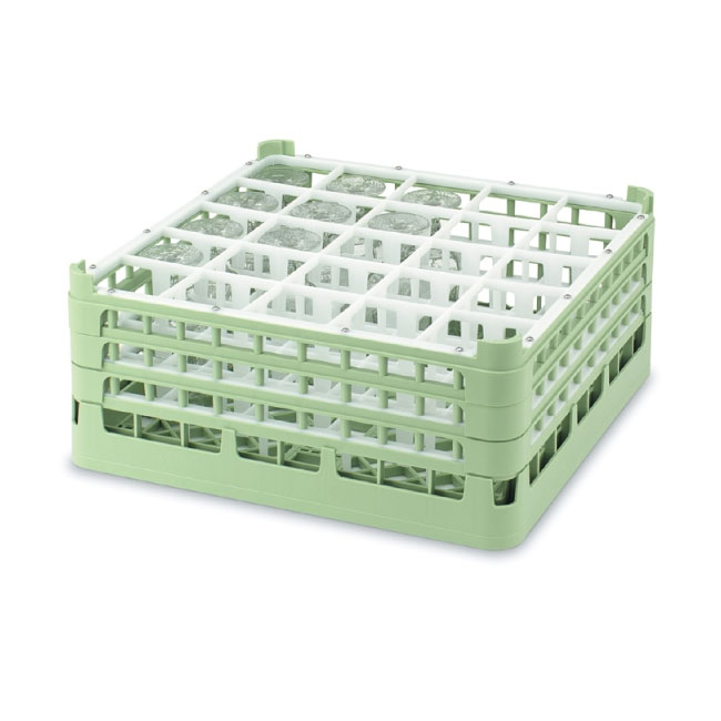 "Vollrath 52684 1 Dishwasher Rack - 25-Compartment, Short, Full-Size, 19-3/4x19-3/4"" Green"
