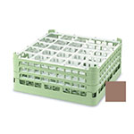 "Vollrath 52684 2 Dishwasher Rack - 25-Compartment, Short, Full-Size, 19-3/4x19-3/4"" Cocoa"