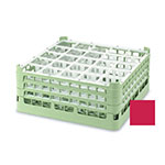 "Vollrath 52684 3 Dishwasher Rack - 25-Compartment, Short, Full-Size, 19-3/4x19-3/4"" Red"