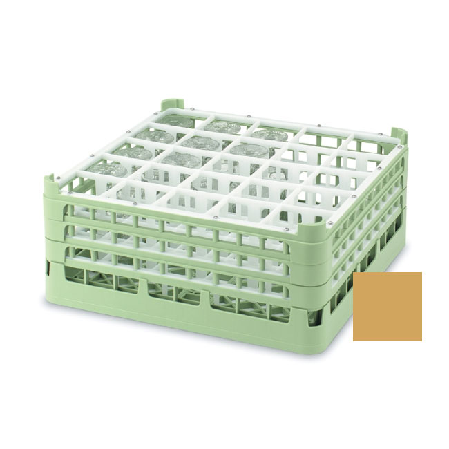 "Vollrath 52684 5 Dishwasher Rack - 25-Compartment, Short, Full-Size, 19-3/4x19-3/4"" Gold"