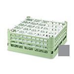 "Vollrath 52684 6 Dishwasher Rack - 25-Compartment, Short, Full-Size, 19-3/4x19-3/4"" Gray"
