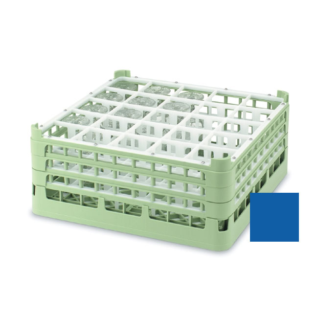 """Vollrath 52684 7 Dishwasher Rack - 25-Compartment, Short, Full-Size, 19-3/4x19-3/4"""" Royal Blue"""