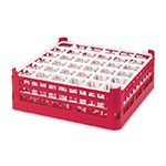 "Vollrath 52689 3 Dishwasher Rack - 36-Compartment, Short, Full-Size, 19-3/4x19-3/4"" Red"