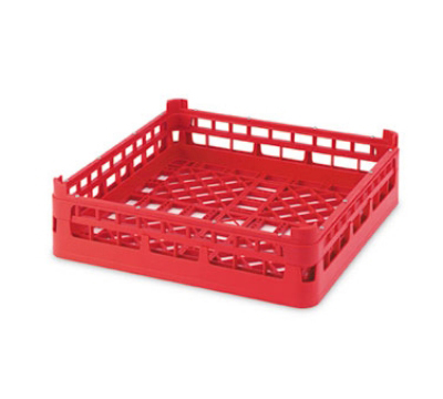 "Vollrath 52689 9 Dishwasher Rack - 36-Compartment, Short, Full-Size, 19-3/4x19-3/4"" Burgundy"
