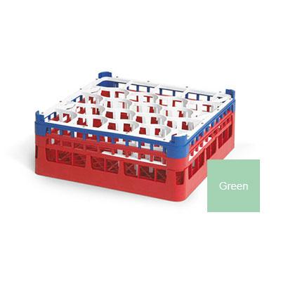 """Vollrath 52693 1 Dishwasher Rack - 20-Lemon-Drop, Medium, Full-Size, 19-3/4x19-3/4"""" Green"""