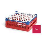 "Vollrath 52693 3 Dishwasher Rack - 20-Lemon-Drop, Medium, Full-Size, 19-3/4x19-3/4"" Red"