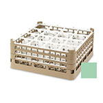 "Vollrath 52694 1 Dishwasher Rack - 16-Compartment, Short, Full-Size, 19-3/4x19-3/4"" Green"
