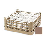 """Vollrath 52694 2 Dishwasher Rack - 16-Compartment, Short, Full-Size, 19-3/4x19-3/4"""" Cocoa"""