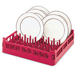 "Vollrath 52695 3 Open Dishwasher Rack - Extended Height, Full-Size, 19-3/4x19-3/4"" Red"