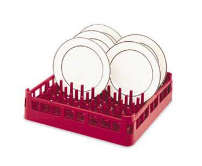 Vollrath 52695 Open Rack Extended Height Full Size Polypropylene Burgundy Restaurant Supply