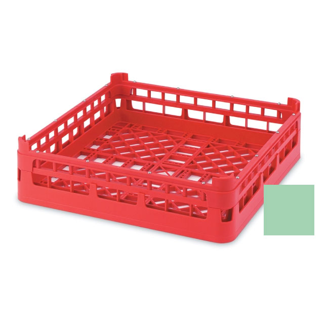 "Vollrath 52696 1 Open Dishwasher Rack - Short, Ex-Height, Full-Size, 19-3/4x19-3/4"" Green"