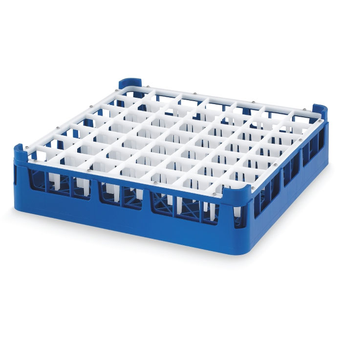 "Vollrath 52699 7 Dishwasher Rack - 49-Compartment, Short, Full-Size, 19-3/4x19-3/4"" Royal Blue"