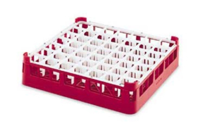 "Vollrath 52699 3 Dishwasher Rack - 49-Compartment, Short, Full-Size, 19-3/4x19-3/4"" Red"