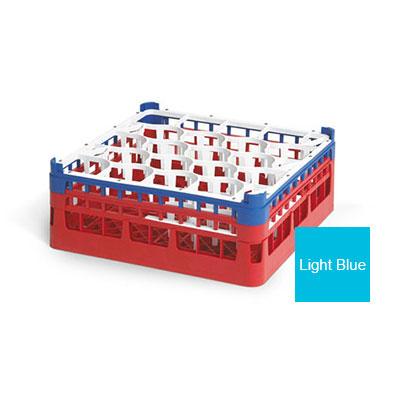 """Vollrath 52703 4 Dishwasher Rack - 20-Lemon-Drop, Tall, Full-Size, 19-3/4x19-3/4"""" Blue"""