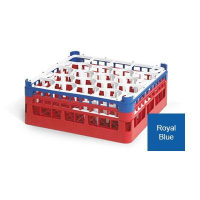 "Vollrath 52703 7 Dishwasher Rack - 20-Lemon-Drop, Tall, Full-Size, 19-3/4x19-3/4"" Royal Blue"