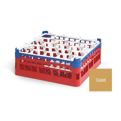 """Vollrath 52706 5 Dishwasher Rack - 20-Lemon-Drop, X-Tall, Full-Size, 19-3/4x19-3/4"""" Gold"""