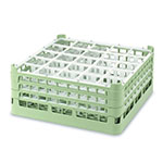 "Vollrath 52710 1 Dishwasher Rack - 20-Compartment, Medium, Full-Size, 19-3/4x19-3/4"" Green"