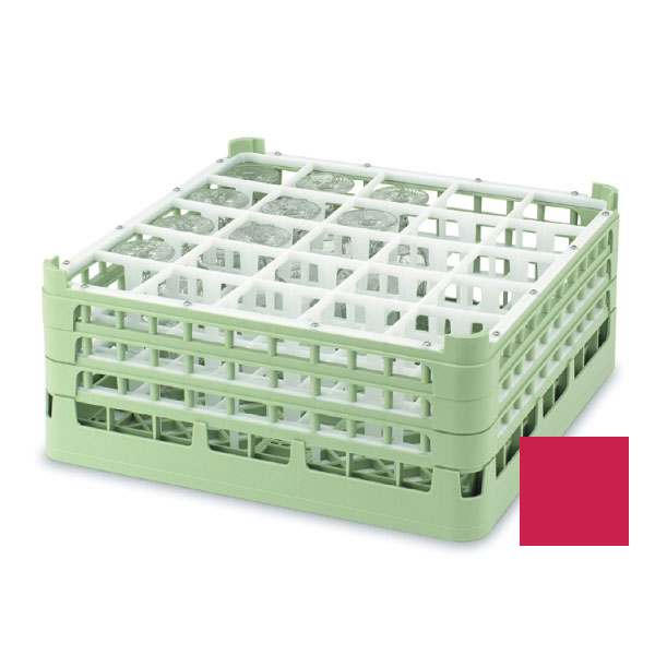 "Vollrath 52710 3 Dishwasher Rack - 20-Compartment, Medium, Full-Size, 19-3/4x19-3/4"" Red"