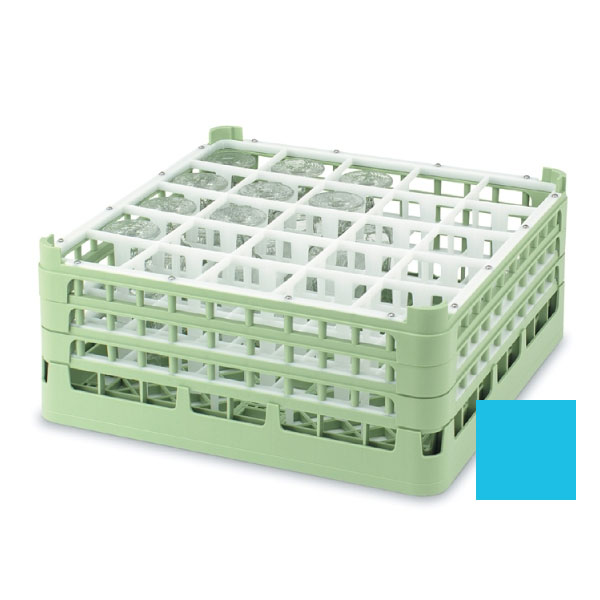 "Vollrath 52711 4 Dishwasher Rack - 25-Compartment, Tall, Full-Size, 19-3/4x19-3/4"" Blue"