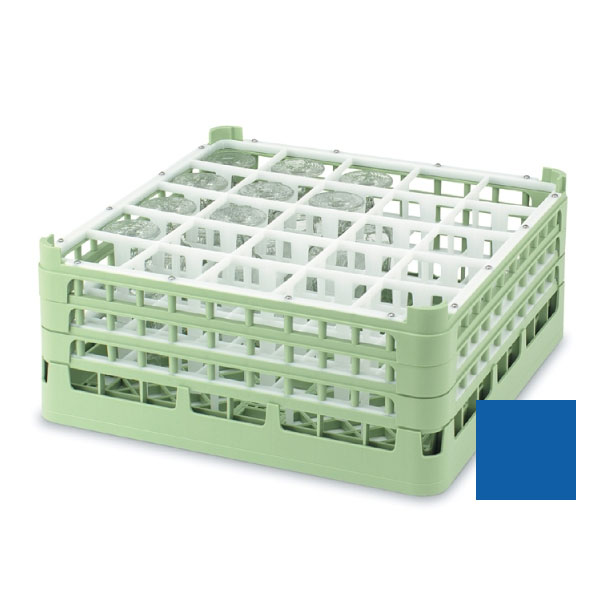 """Vollrath 52711 7 Dishwasher Rack - 25-Compartment, Tall, Full-Size, 19-3/4x19-3/4"""" Royal Blue"""