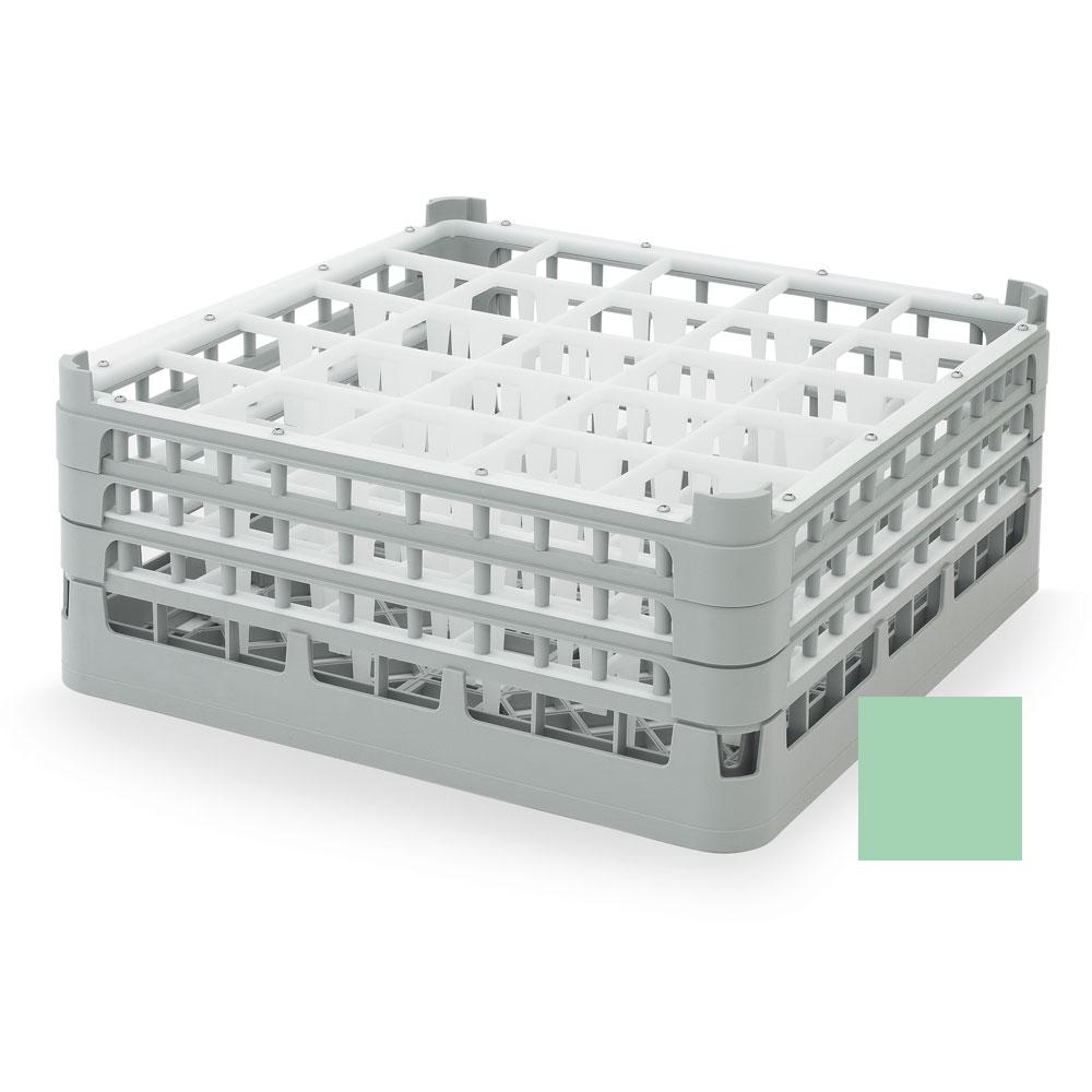 "Vollrath 52712 1 Dishwasher Rack - 25-Compartment, X-Tall, Full-Size, 19-3/4x19-3/4"" Green"