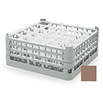"Vollrath 52712 2 Dishwasher Rack - 25-Compartment, X-Tall, Full-Size, 19-3/4x19-3/4"" Cocoa"