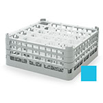 "Vollrath 52712 4 Dishwasher Rack - 25-Compartment, X-Tall, Full-Size, 19-3/4x19-3/4"" Blue"