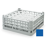"Vollrath 52712 7 Dishwasher Rack - 25-Compartment, X-Tall, Full-Size, 19-3/4x19-3/4"" Royal Blue"
