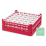 "Vollrath 52714 1 Dishwasher Rack - 36-Compartment, Medium, Full-Size, 19-3/4x19-3/4"" Green"