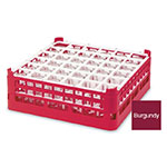 "Vollrath 52715 9 Dishwasher Rack - 36-Compartment, Tall, Full-Size, 19-3/4x19-3/4"" Burgundy"
