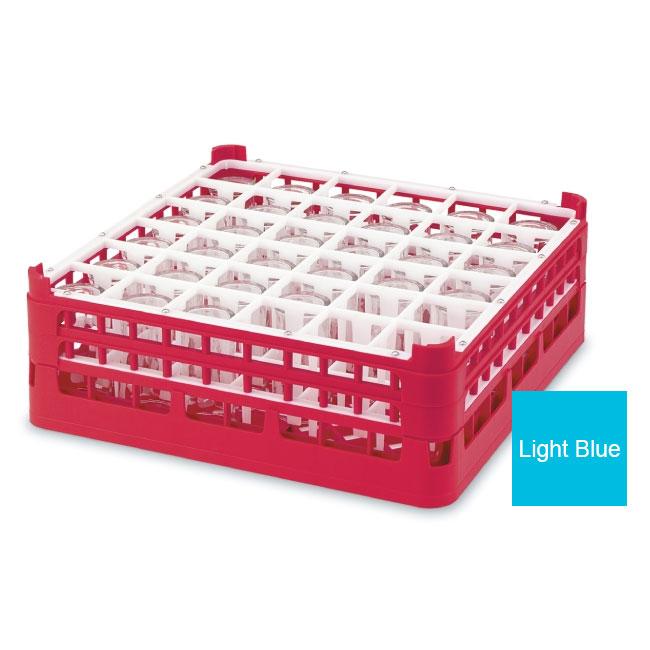 "Vollrath 52716 4 Dishwasher Rack - 36-Compartment, X-Tall, Full-Size, 19-3/4x19-3/4"" Blue"