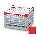 "Vollrath 52720 3 Dishwasher Rack - 16-Compartment, X-Tall, Full-Size, 19-3/4x19-3/4"" Red"
