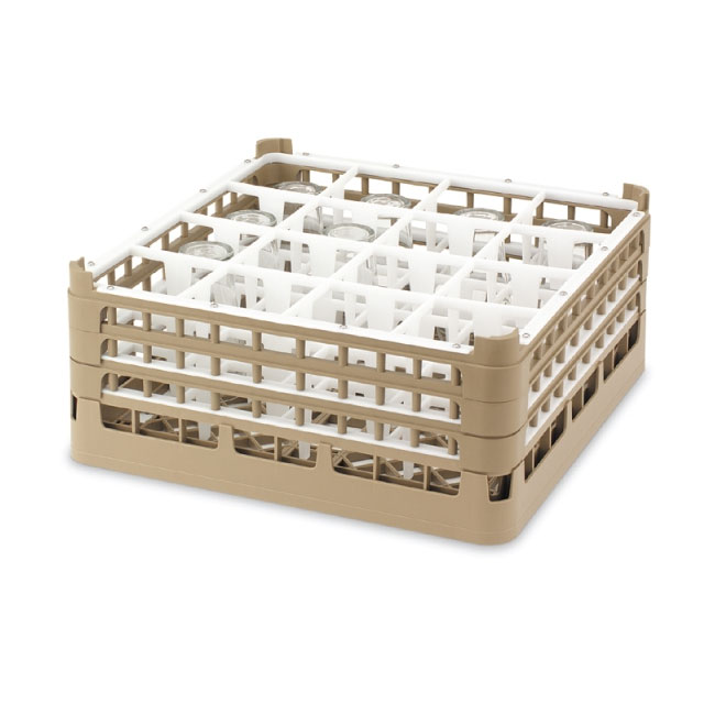 """Vollrath 52724 2 Dishwasher Rack - 49-Compartment, X-Tall, Full-Size, 19-3/4x19-3/4"""" Cocoa"""