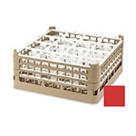 """Vollrath 52724 3 Dishwasher Rack - 49-Compartment, X-Tall, Full-Size, 19-3/4x19-3/4"""" Red"""