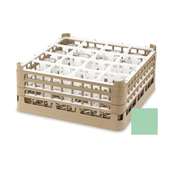 "Vollrath 52725 1 Dishwasher Rack - 49-Compartment, XX-Tall, Full-Size, 19-3/4x19-3/4"" Green"