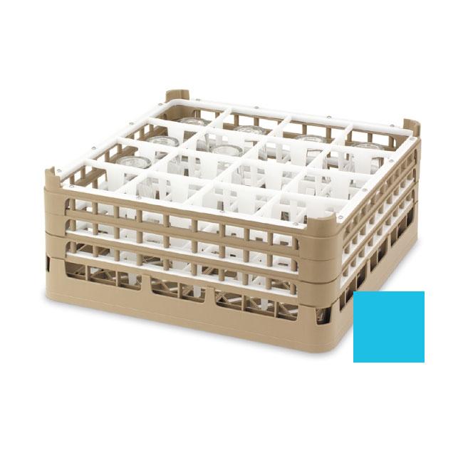 "Vollrath 52725 4 Dishwasher Rack - 49-Compartment, XX-Tall, Full-Size, 19-3/4x19-3/4"" Blue"