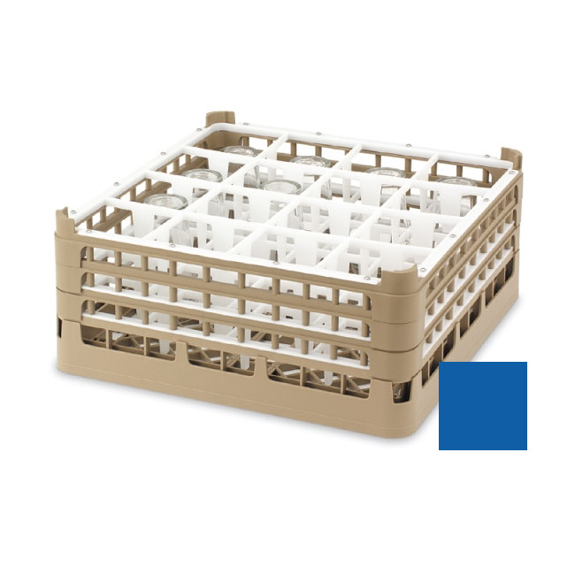 "Vollrath 52725 7 Dishwasher Rack - 49-Compartment, XX-Tall, Full-Size, 19-3/4x19-3/4"" Royal Blue"