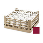 "Vollrath 52725 9 Dishwasher Rack - 49-Compartment, XX-Tall, Full-Size, 19-3/4x19-3/4"" Burgundy"