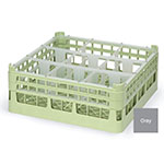 """Vollrath 52728 6 Dishwasher Rack - 9-Compartment, Tall, Full-Size, 19-3/4x19-3/4"""" Gray"""