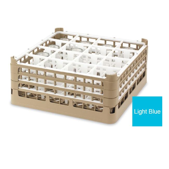 "Vollrath 52737 4 Dishwasher Rack - 16-Compartment, 4X-Tall, Full-Size, 19-3/4x19-3/4"" Blue"