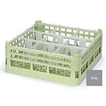 "Vollrath 52761 6 Dishwasher Rack - 9-Compartment, Medium Plus, Full-Size, 19-3/4x19-3/4"" Gray"