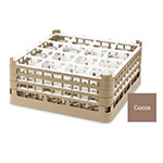 "Vollrath 52767 2 Dishwasher Rack - 16-Compartment, Medium Plus, Full-Size, 19-3/4x19-3/4"" Cocoa"