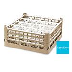 "Vollrath 52767 4 Dishwasher Rack - 16-Compartment, Medium Plus, Full-Size, 19-3/4x19-3/4"" Blue"