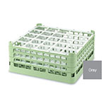 "Vollrath 52772 6 Dishwasher Rack - 25-Compartment, Short Plus, Full-Size, 19-3/4x19-3/4"" Gray"