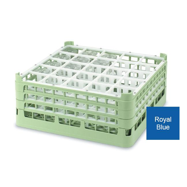 Vollrath 52772 7 Dishwasher Rack - 25-Compartment, Short Plus, Full-Size, Royal Blue